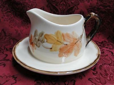 Franciscan October (USA) Fall Leaves: Gravy Boat with Attached Underplate