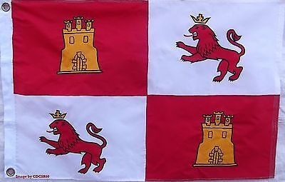 Sewn Nylon 2 X 3'  Spain Lions & Castles Flag -  Spanish Royal Standard