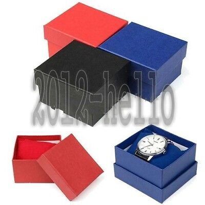 Paper Cardboard Case Bangle Bracelet Wrist Watch Jewelry Present Gift Box GOOD