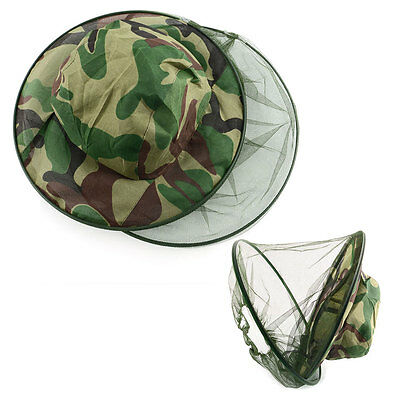 Insect Bee Mosquito Net Mesh Head Face Fishing Camping Hiking Hat Protector Cap