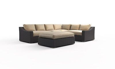 New Tuscan garden 5pc rattan wicker outdoor patio furniture sectional set