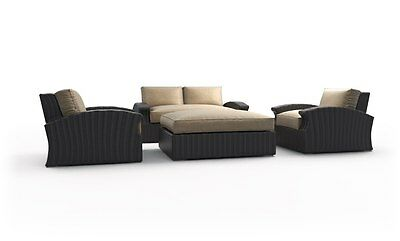 New Azores deep seating 4pcs outdoor patio furniture love seat set