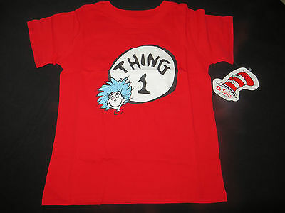 Book Week  Dr Seuss Bumkins S/S TShirt  'Thing1@Thing 2' Sz 2-5 Sizes Quality US