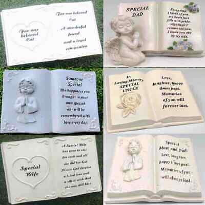 Graveside Memorial Remembrance Grave Photo Book Stone Cemetery Garden Variety