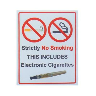 Strictly No Smoking This Includes Electronic Cigarettes Car Window Stticker