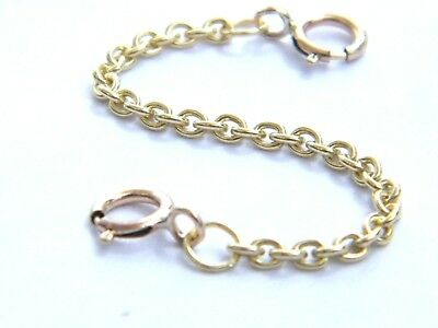 """9ct Gold Heavy Safety/ Extension Chain  2-1/2""""- Extender 4 Bracelet- Necklaces"""