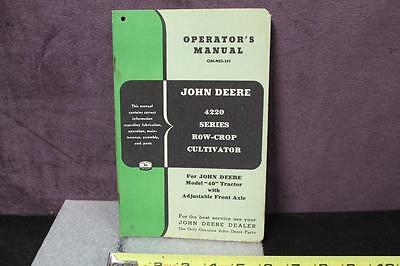 John Deere Operator's Manual 4220 Series Row-Crop Cultivator OM-N23-353