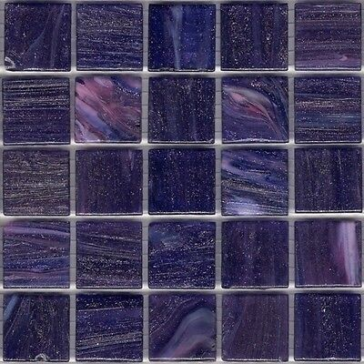 25pcs GM53 Dark Purple Bisazza Le Gemme Italian Glass Mosaic Tiles 2cm x 2cm