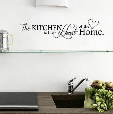 Home Kitchen Wall Quote Decal Removable Stickers Decor Vinyl DIY Home Mural Art