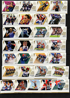 2012 Both Olympic (29) Paralympic (34) Sets Complete U/M And Free Gift See Below