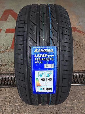 X1 245 40 18 245/40Zr18 97W Xl Landsail New Tyre With Great B,B Ratings Bargain!