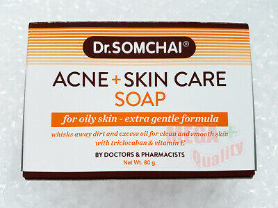 Dr. Somchai Acne and Cleansing Cream Soap Bar Normal to Oily skin Extra Gentle