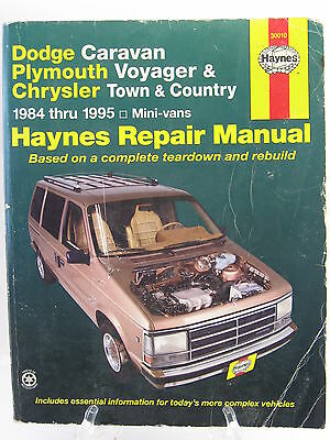 1984 1995 dodge caravan voyager chrysler town country service rh picclick com Dodge Grand Caravan Manual 1995 Dodge Grand Caravan