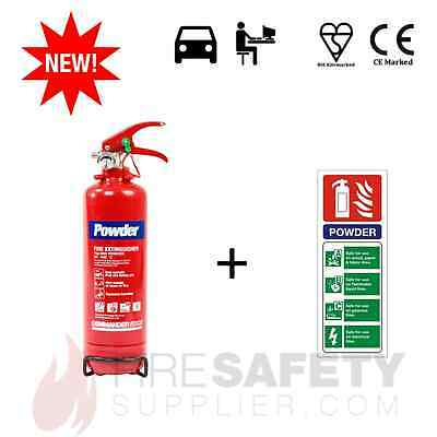 2kg ABC DRY POWDER (OFFICE/CAR/HOME/VEHICLE) FIRE EXTINGUISHER + RIGID SIGN