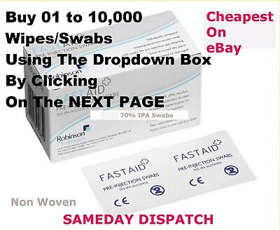 4 Ur First Aid Kit Fastaid Top Quality Isopropyl Alcohol Wipes Swabs Tattoo Nail