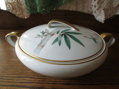 Noritake Canton Bamboo Covered Vegetable Bowl