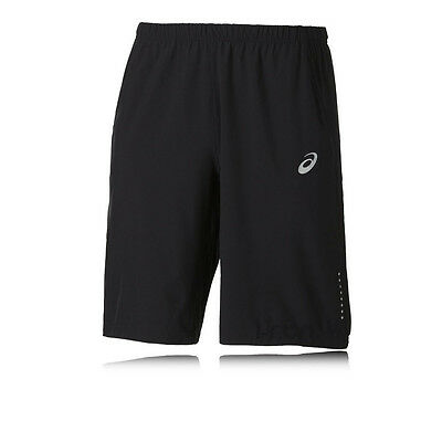 Asics 11 Inch Woven Mens Black Running Training Sports Shorts Pants Bottoms