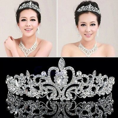 Bridal Princess Austrian Stunning Crystal Hair Tiara Wedding Crown Headband