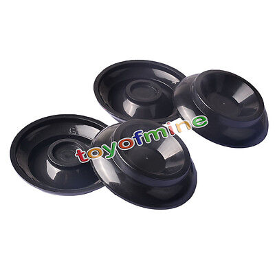4pcs Piano Coaster Caster Cups Plastic Black for Floor Carpet Protection