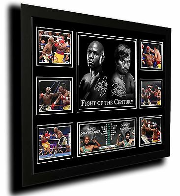 Floyd Mayweather & Manny Pacquiao Signed Limited Edition Framed Memorabilia