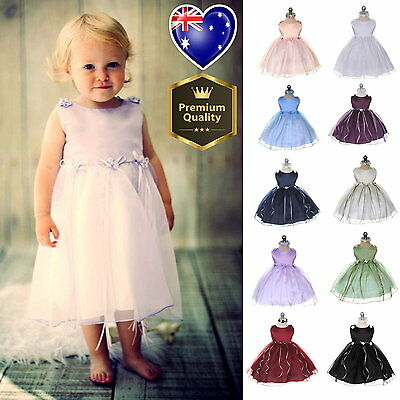 Baby Girls Dress Flower Girl Dress Birthday Party Matching Headband Size 00 to 1