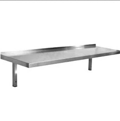 Brand New Stainless Steel Shelf 600Wide 150Deep To 500 Deep