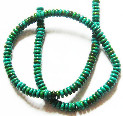 """Turquoise 6mm Rondelle HEISHI Spacers Gemstone Loose Beads 16"""" Strand TUR9"""