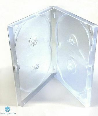1 x 4 Way Clear DVD Multibox 15mm [4 Discs] Empty New Replacement Amaray Case
