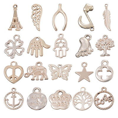 10PCs Charm Silver Gold Plated Pendants DIY Jewelry Findings