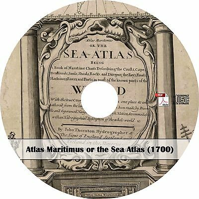 1700 Atlas Maritimus Sea Atlas - 25 Maps of the World - Book on CD