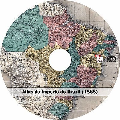 1868 Atlas of the Empire of Brazil - 27 Maps - History Genealogy Book on CD