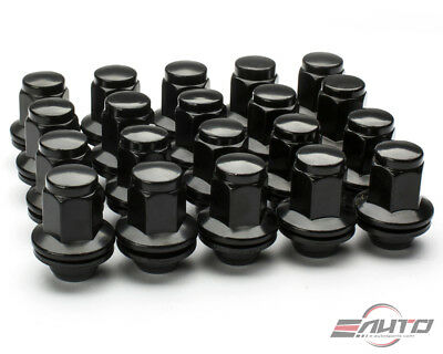20pc MAG 48mm Extend Black Lug Nut 14x1.5 M14xP1.5 22HEX For Factory OEM Wheel
