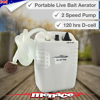 Bait Aerator Air Pump 120+ hrs Fish Tank, Oxygen, Bubbles, Battery Aquarium
