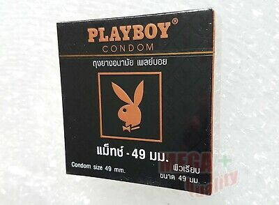 Playboy Match Smooth Condom Small Size with Lubricated and Sensitivity 49mm