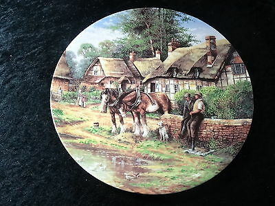 "Collectors Plate - Wedgwood Country Days Series - ""Lunch Break"""