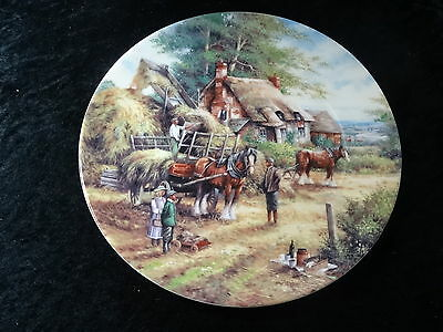 "Collectors Plate - Wedgwood Country Days Series - ""Making the Hayrick"""