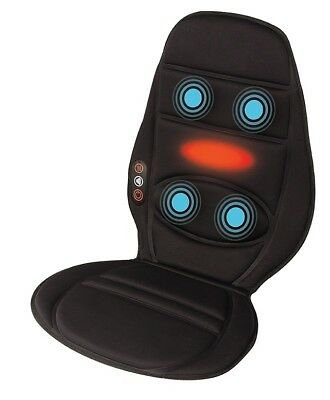 HoMedics In Car Seat Massager Cushion with Heat - In Car Back Muscle Relief