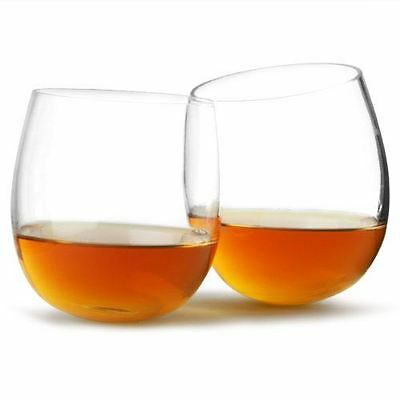 Vinology Collection Whisky Rockers Spirit Drinking Rocking Glasses Set of 2