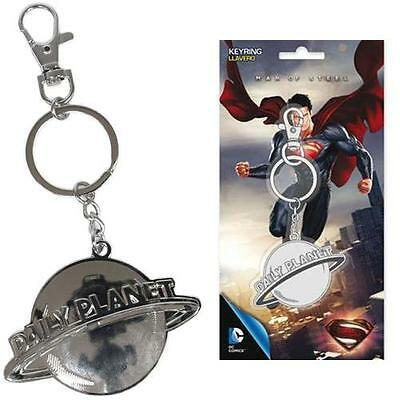 Superman - Daily Planet Metal Shaped 2 Inch Keychain - New & Official DC Comics