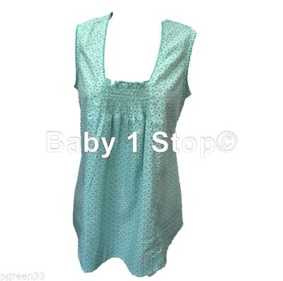 Maternity Smocked Top Pretty Blouse Tunic Size 8 10 12 14 16 18 20 Ex Store