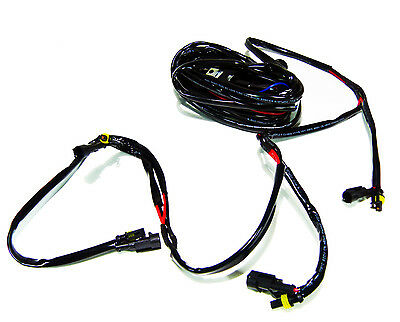 LED Work Light Bar Wiring Harness 40Amp Fuse Relay 4 Leads Kit ON/OFF 12V Switch