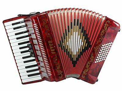 Fever Piano Accordion 3 Switches 30 Keys 48 Bass, Red