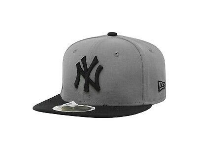 New Era 59Fifty Kids Cap New York Yankees MLB Basic Gray Black Fitted Hat