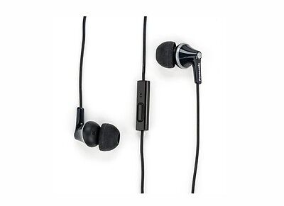 Panasonic RP-TCM125-K ErgoFit In-Ear Headphones with microphone & remote, Black