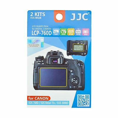 JJC LCP-760D LCD Screen Protector Guard Film for Canon EOS 760D,Rebel T6s,8000D