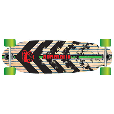 "Adrenalin Downhill 38"" Gtr High Spec Racer Skateboard- Solid Canadian Maple Deck"