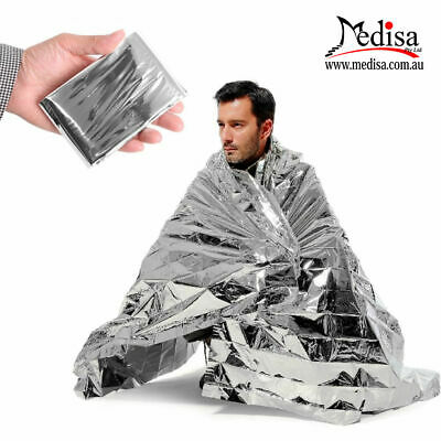 Emergency Survival Blanket, 127x200 cm, Compact Protection From Heat & Cold