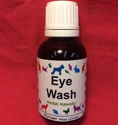 Eye Wash Herbal Remedy Eye Infection Conjunctivitis DOGS Cat Small Animal  Birds