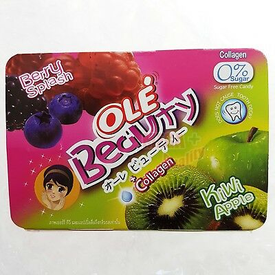 OLE Beauty Candy Berry Splash Kiwi Apple Flavoured with Collagen Sugar Free 14g