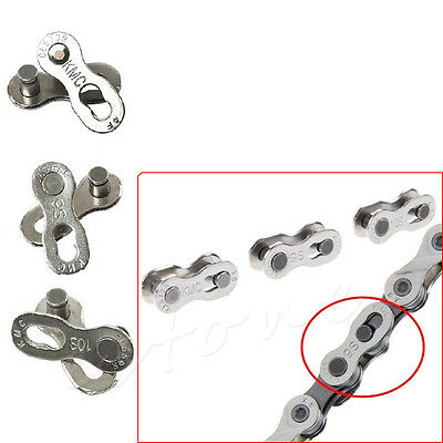 2 Pcs Bike Roller Connector 6-7-8/9/10 Speed Quick Master Link Joint Chain New